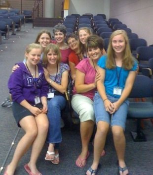 "With our sweet friends ""Heavenly Harmony"" quartet from Harmony Explosion Camp 2009! Love ya girls!!!"